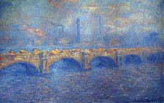 """lonequixote: """"Waterloo Bridge, Sunlight Effect by Claude Monet """""""
