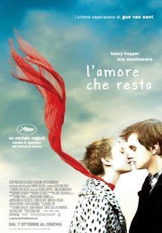 L'AMORE CHE RESTA - film drammatico del 2011 diretto da Gus Van Sant e scritto da Jason Lew, interpretato da Mia Wasikowska e dall'esordiente Henry Hopper. Acuto melodramma sullo splendore della mortalità e dell'adolescenza.