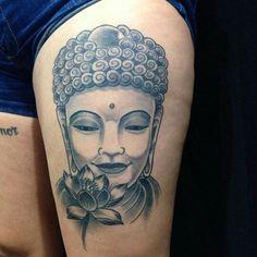 Essa é minha! Minha tatto #Tatto #buda #budah #tattocoxa