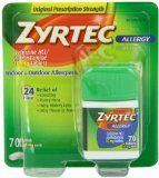 Zyrtec Allergy Relief Tablets, 70 Count Sale Price: $11.55