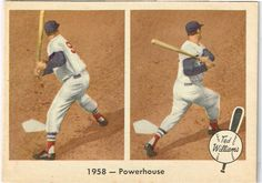 1959 Ted Williams Fleer Cards Numbered 56 and 66 : Both Excellent to Near Mint #BostonRedSox