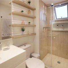 Banheiro clean e lindo by Amei❣ {HI} Sna Bathroom Design Small, Bathroom Layout, Bad Inspiration, Bathroom Inspiration, Bathroom Renos, Bathroom Interior, Master Bathroom, Minimal Bathroom, Marble Bathrooms