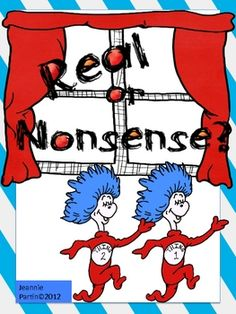 Seuss Real or Nonsense Words - Sort