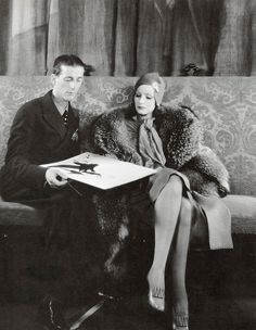 Hollywood costume designer, Adrian and Greta Garbo
