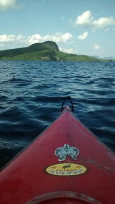 Back side of Mt Kineo as seen from the Moose River in Maine
