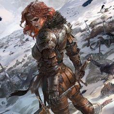Fantasy Female Warrior, Female Knight, High Fantasy, Fantasy Women, Fantasy Rpg, Medieval Fantasy, Fantasy Girl, Fantasy Artwork, Warrior Women