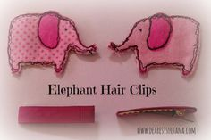 Elephant Hair Clips Hair Clips, Coin Purse, Elephant, Wallet, Purses, Projects, Blog, Kids, Crafts