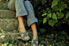hexagon slippers by ironwind (Ravliki), via Flickr