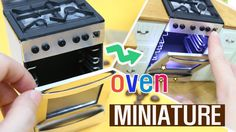 DIY MINIATURE Oven - How to Make Oven / 미니어쳐 불켜지는 오븐 만들기(Dollhouse )!! - YouTube