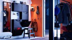 Multifunktionel entré med skoskabe - exchange black for white and create a light atmosphere