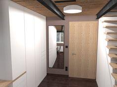 Ložnice s pracovnou a se zvýšeným spaním. Olomouc   očkodesign Divider, Projects, Room, Furniture, Home Decor, Log Projects, Bedroom, Blue Prints, Decoration Home