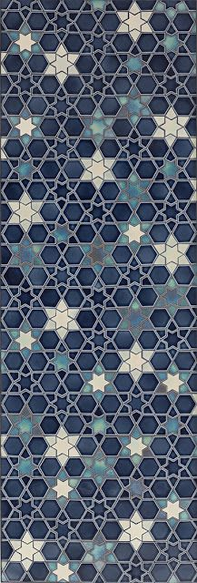 Blue gradient and white hues zellige pattern. Tis intricate stars mosaic is a modern interpretation of the ancestral islamic art of Zellige. Islamic Patterns, Tile Patterns, Pattern Art, Textures Patterns, Pattern Design, Islamic Designs, Pretty Patterns, Geometric Patterns, Crochet Pattern