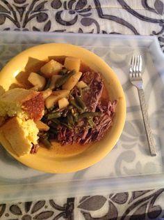 Roast, Veggies, and Cornbread