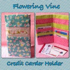 Flowering Vine Credit Card Holder - Free Pattern