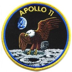 NASA Apollo 11 Patch Inch) Embroidered Iron or Sew on Badge Applique Astronaut Space Suit Souvenir DIY Costume Apollo Moon Landing Apollo Space Program, Nasa Space Program, Nasa Missions, Apollo Missions, Air France, Space Patch, Apollo 11 Moon Landing, Sew On Badges, Nasa Photos