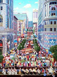 Рисованные города от 'Alexander Chen'