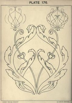 A text book with chapters on elements, principles, and methods of freehand drawing, for the general use of teachers and students . Motif Arabesque, Stencils, Jugendstil Design, Leather Carving, Art Nouveau Design, Motif Floral, Calligraphy Art, Pattern Art, Art Tutorials