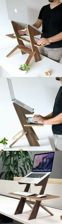 DIY computer desk ideas - do you want to make your own computer desk for your room or dorm? This is 21 list of DIY computer desk ideas with plans for your guide! Wood Projects, Woodworking Projects, Projects To Try, Deco Design, Wood Design, Diy Furniture, Furniture Design, Colonial Furniture, Office Furniture