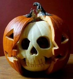 Get your carving tools out, because we have 20 ways—from spooky to elegant to jolly—to make your house Halloween ready. Halloween Pumpkin Ideas Please enable JavaScript to view the comments powered by Disqus. Happy Halloween, Halloween 2017, Spooky Halloween, Halloween Crafts, Halloween Decorations, Halloween Party, Halloween Makeup, Pumpkin Carving Contest, Pumkin Carving