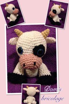 Doudou crochet Vache
