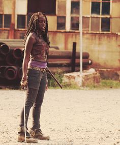 Michonne from The Walking Dead tv show; rocks a katana sword during the zombie apocalypse. My kinda gal.