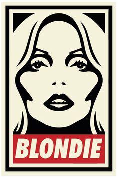 Blondie aka Debbie Harry, by Shepard Fairey, art illustration.