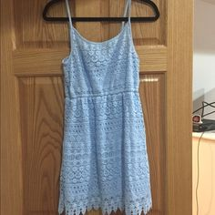 H&M light blue dress H&M light blue knit dress. Adjustable straps. Divided Dresses Mini