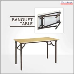 Apt for parties, weddings and public functions, these #tables are space saving as they can be folded and kept in small spaces.