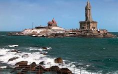 Though there are several places of tourist-interest in the town and district, Kanyakumari is especially popular in India for its spectacular and unique sunrise and sunset. The confluence of three ocean bodies – the Bay of Bengal, the Indian Ocean, and the Arabian Sea – makes the sunrise and sunset even more special. On balmy, full-moon evenings, one can also see the moon-rise and sunset at the same time – on either side of the horizon.