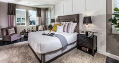#MountainHouseCA #NewHomes #Heritage Heritage by Woodside Homes - Twain Model Master Bedroom