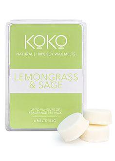 Koko Lemongrass and Sage Soy Wax Melts