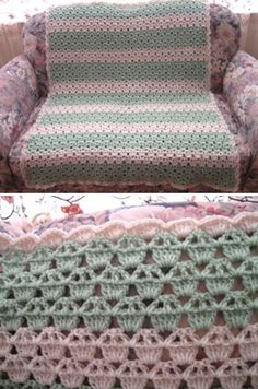 "Cupcake Afghan ~ beginner crochet project ~ finished size 40"" x 46"" 