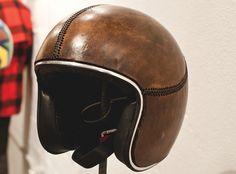 Custom-Upholstered Bell Helmet - Art Show