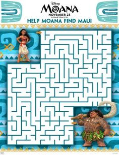 FREE Moana Coloring Sheets + Kids Activities #Moana - RaisingWhasians.com