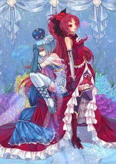 Kyoko & Sayaka una princesa que no se puede enamorar de su sirvienta, en ella cae una maldición y debe ser liberada por ella