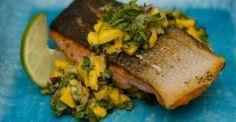 Pan Seared Salmon with Mango Salsa - Chef Ed Lui