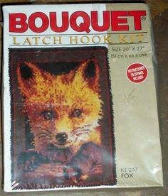 "Latch Hook Kit ""Fox"" 20"" x 27"" New   eBay"