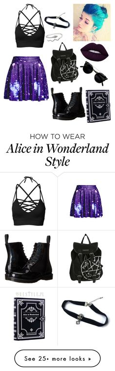 """Untitled #368"" by luna-the-outcast on Polyvore featuring WithChic, Dr. Martens and Lime Crime"