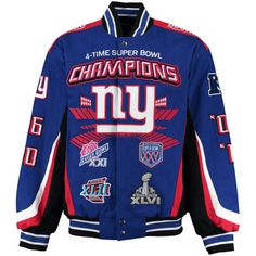 New York Giants G-III Sports by Carl Banks Commemorative Twill Jacket - Royal