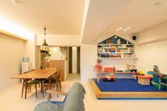 株式会社エキップ「小上がりのキッズスペースが愛らしい!子どもがのびのび遊べる家」(リノベりす掲載)