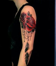 add charms to lace tattoo