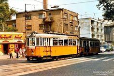 1977, Thököly út a Május 1. (Hermina) útnál, 14. kerület Budapest Hungary, Old Pictures, Historical Photos, Offroad, Retro Vintage, Around The Worlds, Street View, Marvel, Landscape