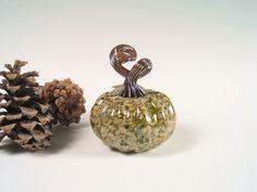 Handblown Glass Pumpkin Centerpiece Thanksgiving by AvolieGlass