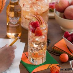 PEACHY PREDICTION. An easy Peachy Prediction and a winning bracket strategy make the perfect start to any tournament.  Just mix 2 Cups Smirnoff ICE Peach Bellini, 2 Cups Pinot Grigio and enjoy with 6 of your friends!
