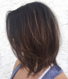 Brown Bob with Subtly Layered Ends