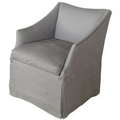 Handmade birch club chair with linen upholstery. Product: Club chair Construction Material: Birchwood and li. Furniture Styles, Furniture Decor, Contemporary Armchair, Upholstered Sofa, Rugs Usa, Furniture Upholstery, Formal Living Rooms, Chair And Ottoman, Living Room Chairs