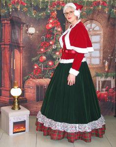 Mrs Santa Claus dress costume / Muriel assistante du Père Noël