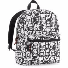e74a435d534e Star Wars Stormtrooper Comic Print Backpack Standard Size  Disney  Backpack  Black Backpack