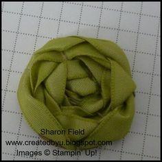 how to- lovely ribbon rosettes