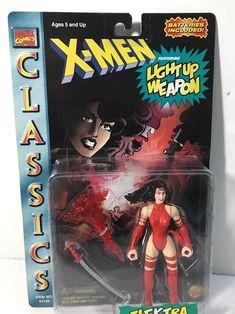 Marvel Comics Classics X-Men Elektra Light Up Ninja Blade Action Figure 1996 #eBayDanna